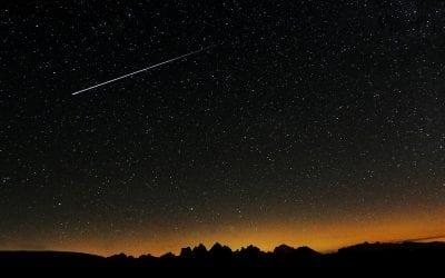 Shooting stars over Edinburgh 2017